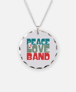 Peace Love Band Necklace
