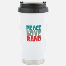 Peace Love Band Stainless Steel Travel Mug