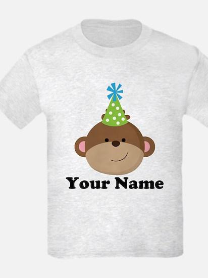 Personalized Birthday Monkey T-Shirt