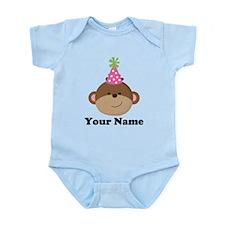 Personalized Birthday Monkey Infant Bodysuit