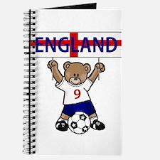 Cute England Soccer Bear Journal