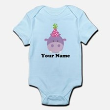Personalized Birthday Hippo Infant Bodysuit
