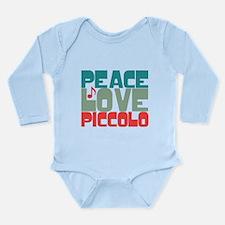 Peace Love Piccolo Long Sleeve Infant Bodysuit