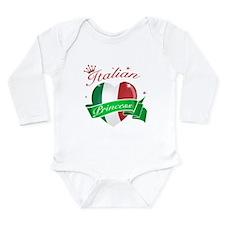 Italian Princess Long Sleeve Infant Bodysuit