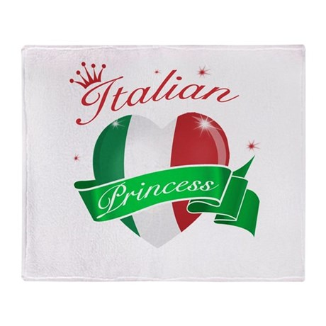 Italian Princess Throw Blanket