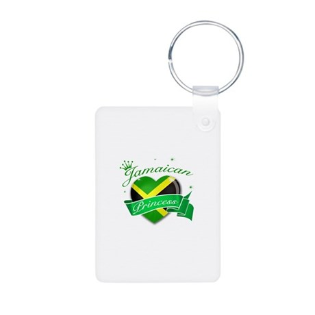 Jamaican Princess Aluminum Photo Keychain