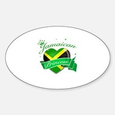 Jamaican Princess Sticker (Oval)