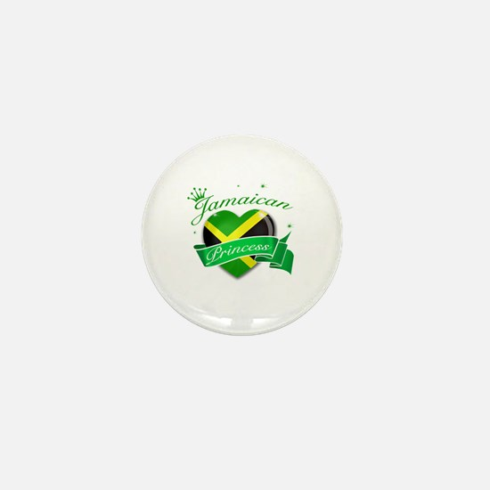 Jamaican Princess Mini Button