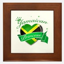 Jamaican Princess Framed Tile