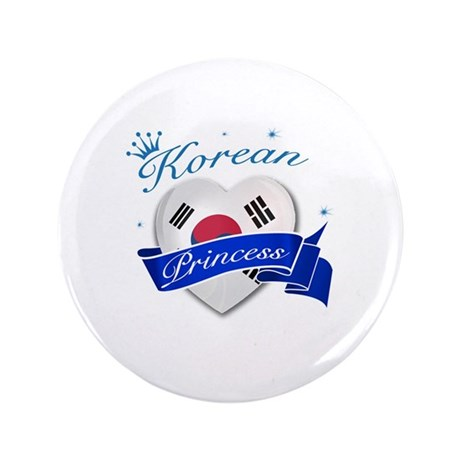 "Korean Princess 3.5"" Button (100 pack)"