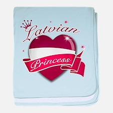 Latvian Princess baby blanket