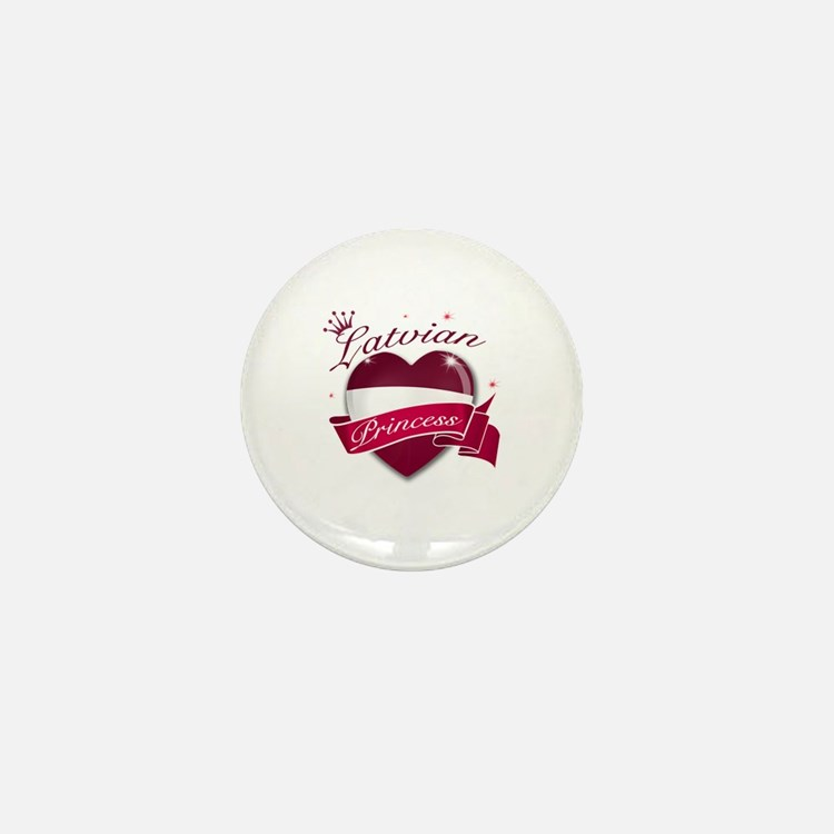 Latvian Princess Mini Button