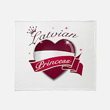 Latvian Princess Throw Blanket