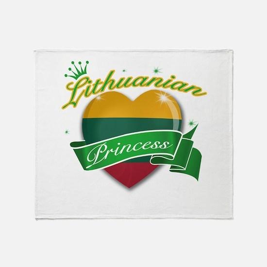 Lithuanian Princess Throw Blanket