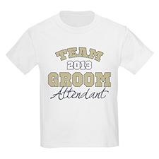 Team Groom 2013 Attendant T-Shirt
