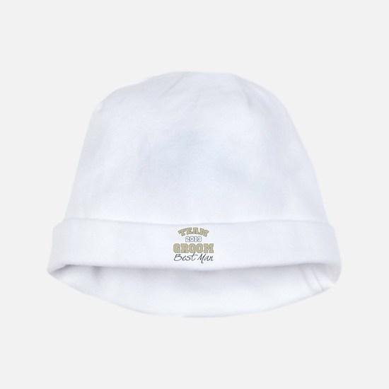Team Groom 2013 Best Man baby hat