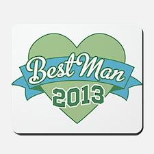 Heart Best Man 2013 Mousepad