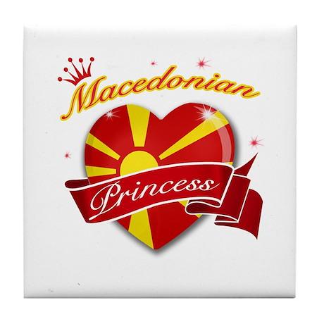 Macedonian Princess Tile Coaster