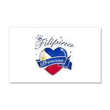 Filipino Princess Car Magnet 20 x 12