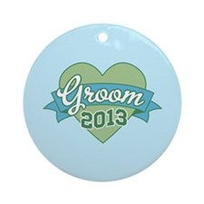 Heart Groom 2013 Ornament (Round)