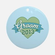 Heart Groom 2013 Ornament (Round)