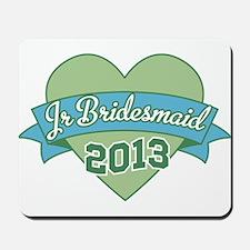 Heart Junior Bridesmaid 2013 Mousepad