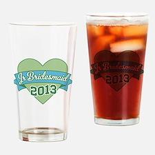 Heart Junior Bridesmaid 2013 Drinking Glass