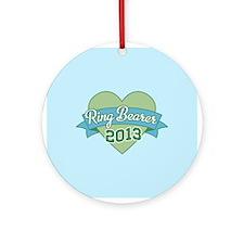 Heart Ring Bearer 2013 Ornament (Round)