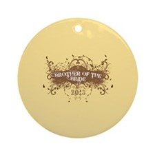 2013 Grunge Bride Brother Ornament (Round)