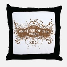 2013 Grunge Bride Brother Throw Pillow