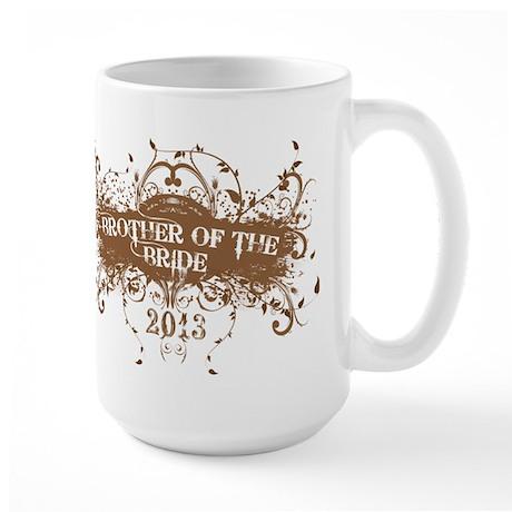 2013 Grunge Bride Brother Large Mug