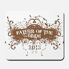 2013 Grunge Bride Father Mousepad