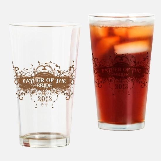 2013 Grunge Bride Father Drinking Glass