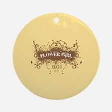2013 Grunge Flower Girl Ornament (Round)