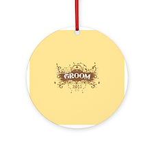 2013 Grunge Groom Ornament (Round)