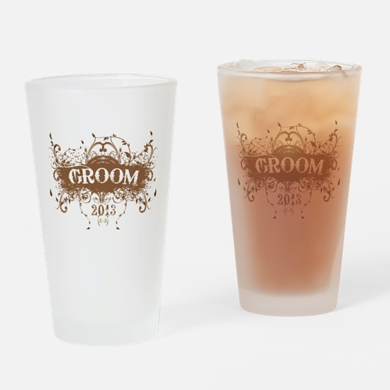 2013 Grunge Groom Drinking Glass