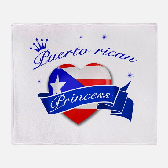 Puertorican Princess Throw Blanket