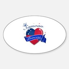 Samoan Princess Sticker (Oval)