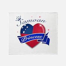 Samoan Princess Throw Blanket