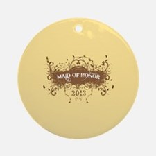 2013 Grunge Maid of Honor Ornament (Round)