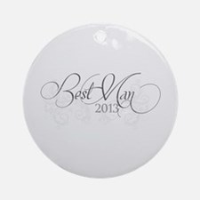 Fleur Amour 2013 Best Man Ornament (Round)
