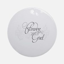 Fleur Amour 2013 Flower Girl Ornament (Round)