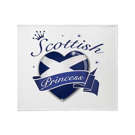 Scottish Princess Throw Blanket