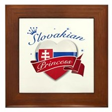 Slovakian Princess Framed Tile