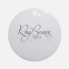 Fleur Amour 2013 Ring Bearer Ornament (Round)