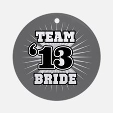 B&W Emblem Star Bride 12 Ornament (Round)