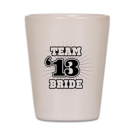 B&W Emblem Star Bride 12 Shot Glass