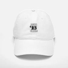 B&W Emblem Star Groom 12 Baseball Baseball Cap