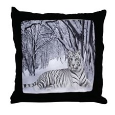 Cute A white tiger Throw Pillow