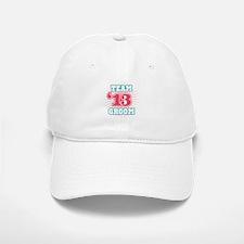 Red Turquoise Emblem Star Gro Baseball Baseball Cap
